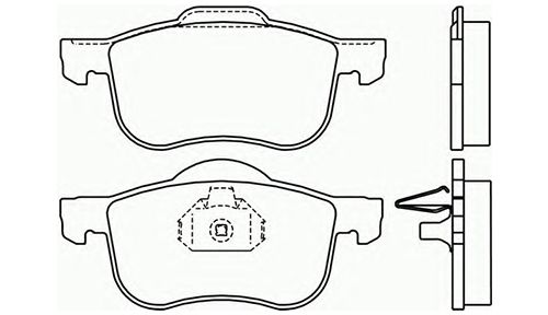 Genuine Volvo XC70 (01-07) Front Police Brake Pads (with Sensor 16